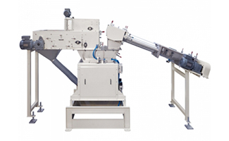a double feed bagging scale to run products with different handling needs through the same bagging scale.