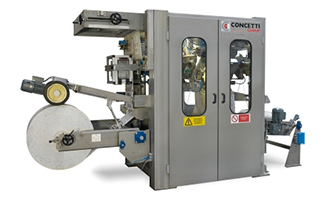 Concetti FFS-E high-speed, form, fill and seal bagging machine.